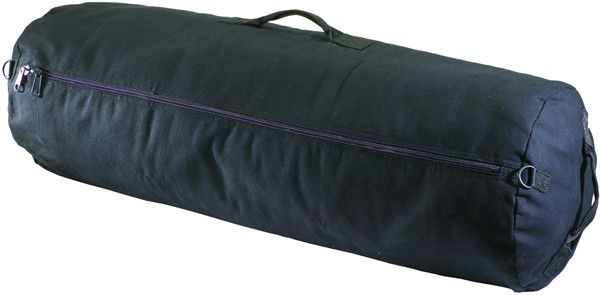 Black Zippered Canvas Duffel Bags (Case pack of 12)