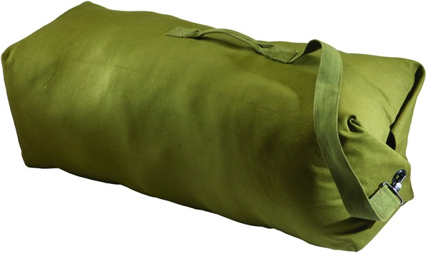 GI Style OD Green Canvas Duffel Bag