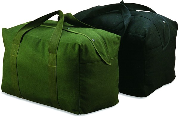 Canvas Parachute Bag - Black or OD Green (Case pack of 12)