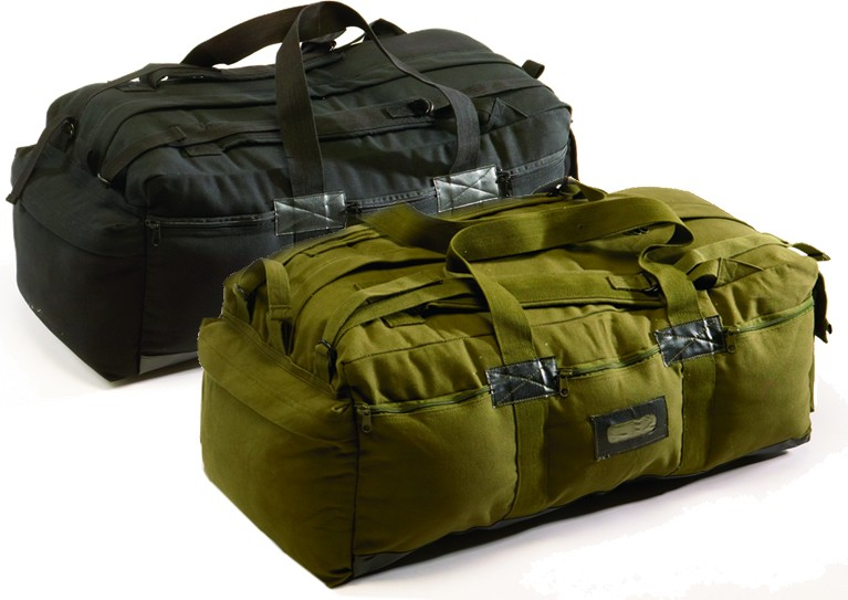 Canvas Tactical Bag - Black or OD Green (Case pack of 6)