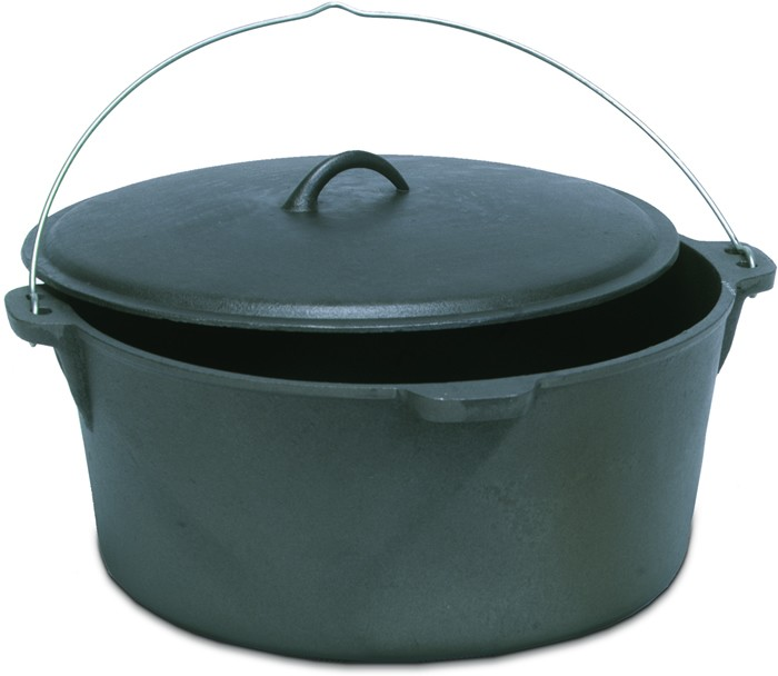 Cast Iron Dutch Ovens without Legs 4, 8, 12 and 20 Quart