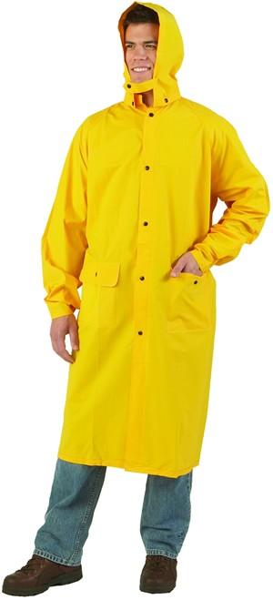 Two-Piece P.V.C. Yellow Raincoat