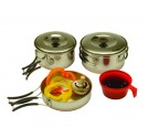 Backpackers Stainless Steel Cook Set (Case pack of 12)
