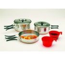 Two-Person Stainless Steel Cook Set