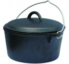 Pre-Seasoned 2 quart Cast Iron Dutch Oven With Out Legs