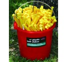 Bucket Packed (100) 9'' Plastic Tent Stakes