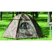 Camouflage Three-Person Hexagon Dome Tent (Case pack of 6)