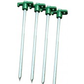 Steel Spike Tent Stakes (4 Pack) (Case pack of 24)
