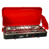 Texsport Super High Output Dual Burner Piezo Igniter Propane Stove (Case pack of 2)