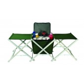 Dual Camp Stools With Cooler