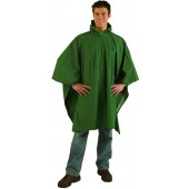 Laminated Nylon Poncho - Forest Green (Case pack of 12)